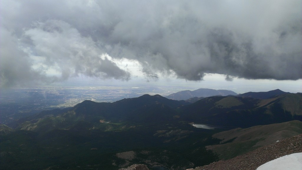 WJ Vincent Pike's Peak Colorado View 2015